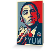 Obama Bake Sale (riff on Shepard Fairey) Greeting Card
