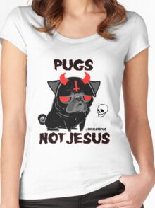 pugs not jesus Women's Fitted Scoop T-Shirt