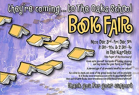 The Oaks School Book Fair Poster 1 by Luke Massman-Johnson