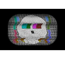 Skull test card Photographic Print
