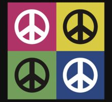 """Peace """" Multicolored Peace Signs """" T-Shirt"""
