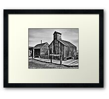 Old West Hitching Post Framed Print