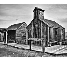 Old West Hitching Post Photographic Print