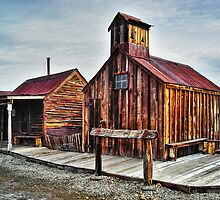 Old West Hitching Post HDR by James Eddy