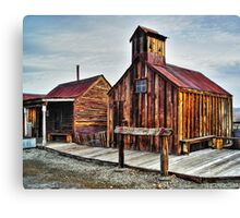 Old West Hitching Post HDR Canvas Print