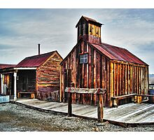 Old West Hitching Post HDR Photographic Print