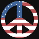 Peace Symbol with American Flag T-Shirt by T-ShirtsGifts