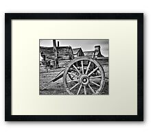 Old West Wagon Framed Print