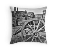 Old West Wagon Throw Pillow