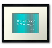 'Fighter' By Lao Tzu  Framed Print