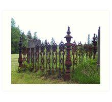 1850's Wrought Iron Grave Plot Fence Art Print