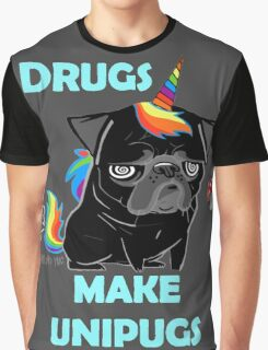 black unipug Graphic T-Shirt