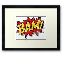 Bam! Comic Book Effect Framed Print