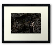 Jesus - I love you this much Framed Print