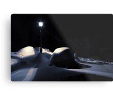 Winter Night Light Metal Print