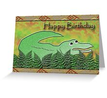 Happy Birthday Alligator Greeting Card