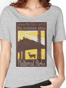 Vintage poster - National parks Women's Relaxed Fit T-Shirt