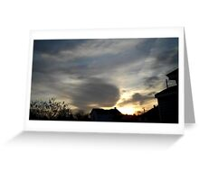 Feb. 5 2013 Sunset 1 Greeting Card