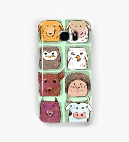 We are all animals, go veg!  Samsung Galaxy Case/Skin