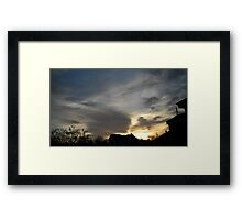 Feb. 5 2013 Sunset 2 Framed Print