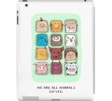 We are all animals, go veg!  iPad Case/Skin