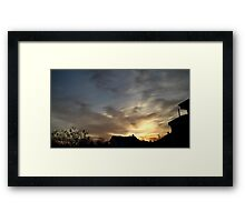 Feb. 5 2013 Sunset 5 Framed Print