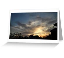 Feb. 5 2013 Sunset 7 Greeting Card