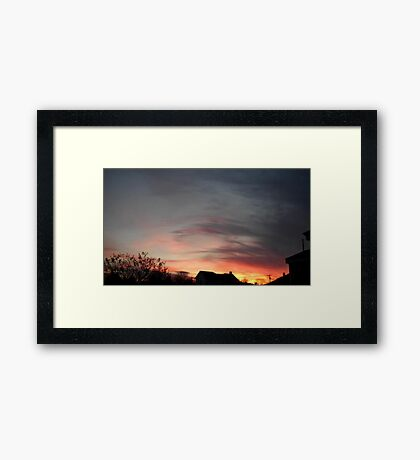 Feb. 5 2013 Sunset 11 Framed Print