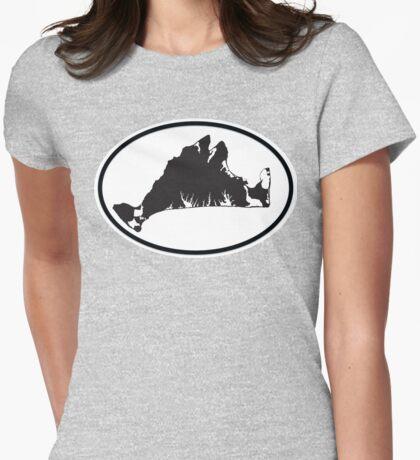 Martha's Vineyard Car Sticker Womens Fitted T-Shirt