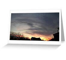 Feb. 5 2013 Sunset 14 Greeting Card