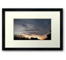 Feb. 5 2013 Sunset 15 Framed Print