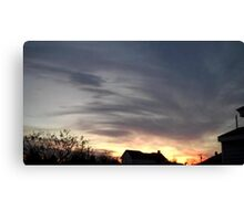 Feb. 5 2013 Sunset 15 Canvas Print