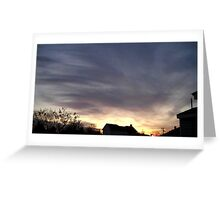 Feb. 5 2013 Sunset 17 Greeting Card