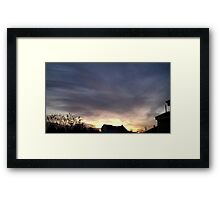 Feb. 5 2013 Sunset 18 Framed Print