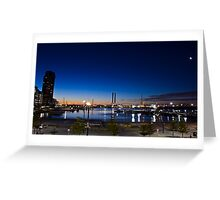Night time looking out over Docklands and the Bolte!  Greeting Card