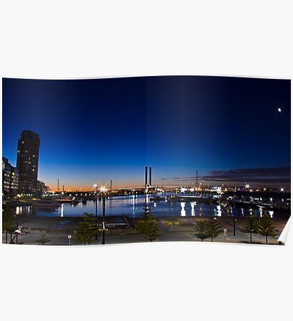 Night time looking out over Docklands and the Bolte!  Poster