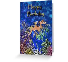 Happy Birthday Seahorse Greeting Card