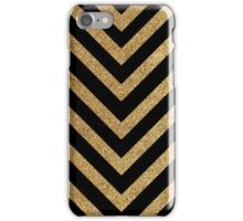Black and gold chevron iPhone Case/Skin