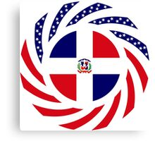 Dominican American Multinational Patriot Flag Series Canvas Print