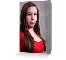 Woman Red Dress Greeting Card