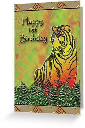 Happy 1st Birthday Tiger by jkartlife