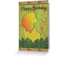 Happy Birthday Lion Greeting Card