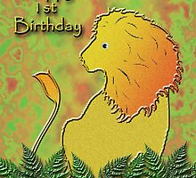 Happy 1st Birthday Lion by jkartlife