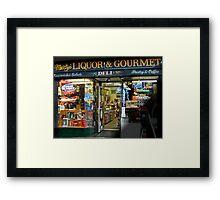Marty's Liquor & Gourmet Deli Framed Print