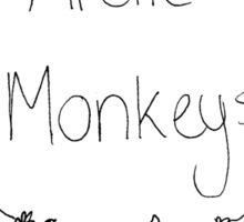 Arctic Monkeys Flower Crown Sticker