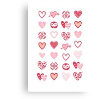 funny little hearts Canvas Print