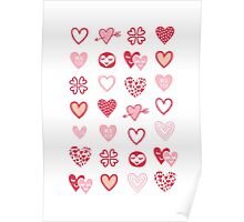 funny little hearts Poster