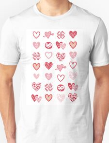 funny little hearts Unisex T-Shirt