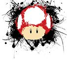 Abstract Super Mario Mushroom by scribbleworx