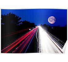 moonlit trails Poster